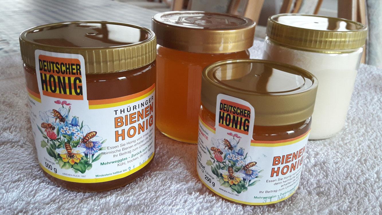 Honig abgefüllt im Glas
